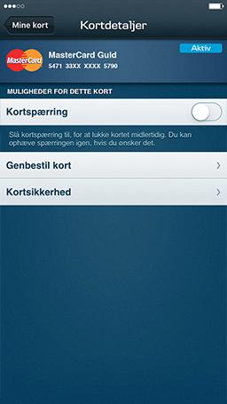 danske bank kortspærring